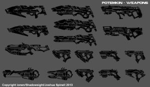 Potemkin: Assault Rifles and Pistols by ionen