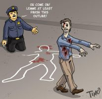 Zombie Outline by TmoeGee