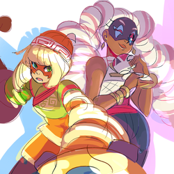 twintelle and minmin by undernet5