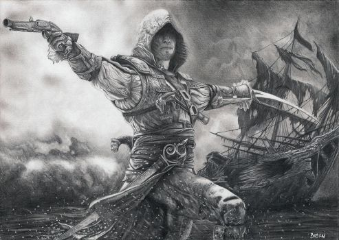 Assassin's Creed IV Black Flag Edward Kenway by Bajan-Art
