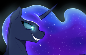 Nightmare Moon by KiraSunnight
