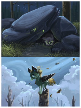 Night and day by griffsnuff