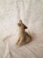 Belvok the Needle Felt Tiny Wolf Doll by RRedolfi