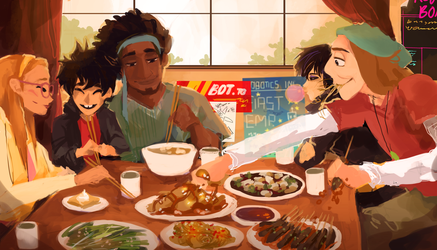 Big Hero 6 Lunchtime by Dreamsoffools