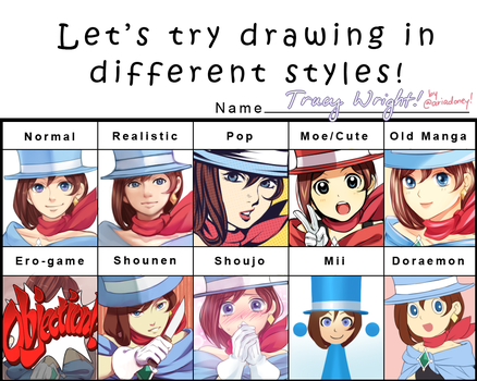 Pixiv Style Meme: Trucy Wright by maesketch