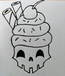 cake skull by cgaddicts