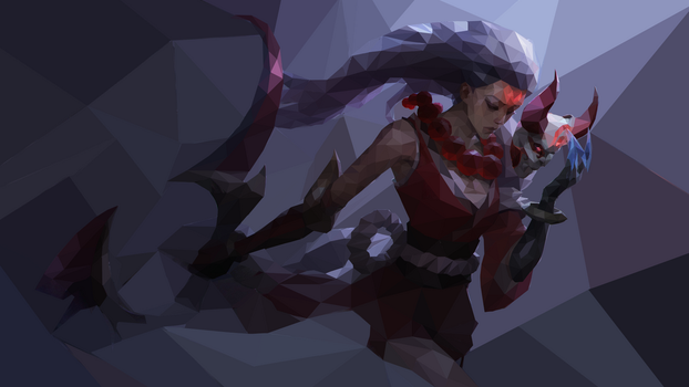 Bloodmoon Diana Low Poly Fanart by ZNKT