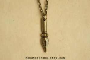 The Writer - Necklace by MonsterBrandCrafts