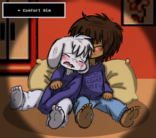 Undertale: Comforting your kid brother. by Neloku