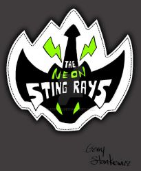 Neon StingRays Biker Jacket Logo by Stnk13