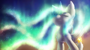 Northern Lights [MLP Celestia Wallpaper] by Shad0w-Galaxy