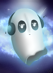 Galactic Napstablook by ColorTwistdraws