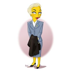 Kim Novak Simpsonized by ADN-z