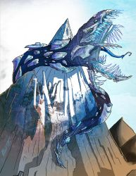 Krel The Frost Wyrm of The Western Peak by BunnyBennett