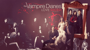 The Vampire Diaries Dark Wallpaper by odds-in-favour
