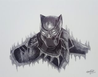 BLACK PANTHER CAPTAIN AMERICA CIVIL WAR by OMKDrawings