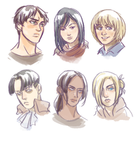 SOME SNK HEADSHOTS by MyDearBasil