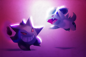 Gengar vs. Nidorina by TalonsofIceandFire