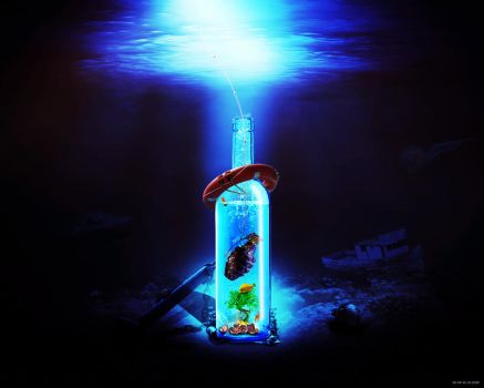 bottle 02 water by gd08