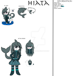 Hiata Refrence Sheet by CosmicCucumber