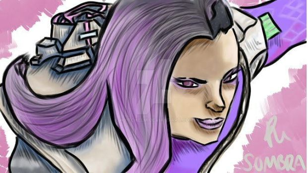 Overwatch Sombra digital drawing by Wytchelm