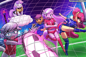 Apple Bloomers Soccer Battle! by luminaura