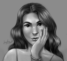 Wavy Hair - Study by Squydney