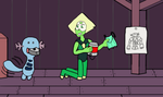 Commission Peridot helps a Wooper by dogman0