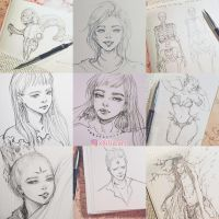 pencil doodles by Xhilia7