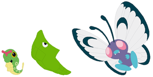 Caterpie, Metapod and Butterfree Base