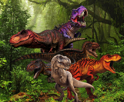 Kings and Queens of The Dinosaurs by WOLFBLADE111