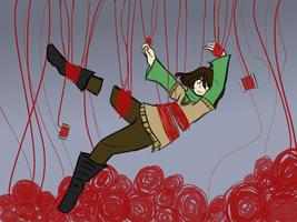 thats alot of red string you have there. by CelestialLucent
