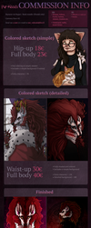 Commission INFO and PRICE LIST 2018 by Pur-kissa
