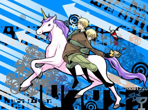 Hetalia: Unicorn by waterylt