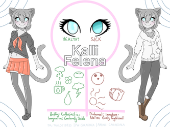 Kalli Felena - Reference Sheet [Request] by Taylor12033