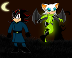 Shadow and Rouge as Dr. Drakken and Shego by dwaters220