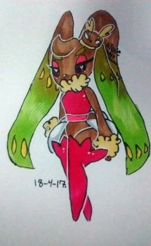 Lopunny and Tsareena fusion by NicoleDoodlesjunk