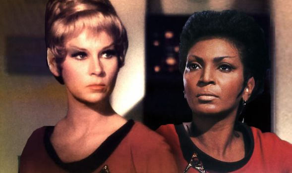 Vulcan Janice Rand and Nyota Uhura TOS by Nat-Nat177