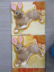 Watership Down Wall Tiles by tallydragon