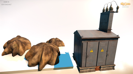 Various 3d models - render in Cryengine. by AndreyFilantrop