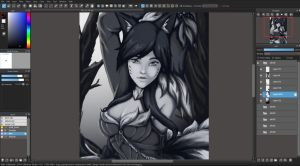 Ahri WIP by BAtypical