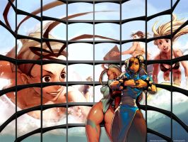 BigScreen_Chun Li and Cammy by Klypz31