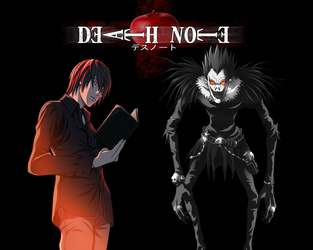 Kira and Ryuk by RatedrCarlos