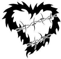 Tattoo Heart Barbed Wire by XResch
