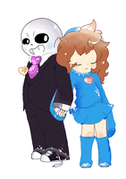 SansxFrisk thing by burrase