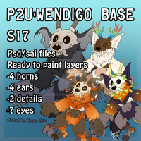 P2U- Wendigo base by Clown-Grin