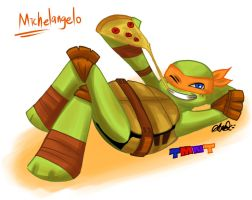 TMNT 2012: Michelangelo by athena-i