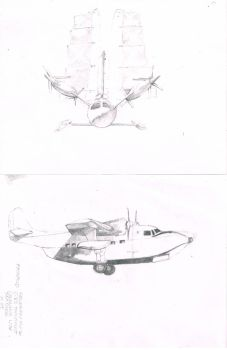 concept art for aircraft. by trburn02