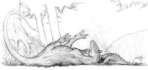 Cryolophosaurus Napping by Ashere