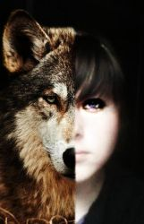 me with a wolf :p by RadioHope